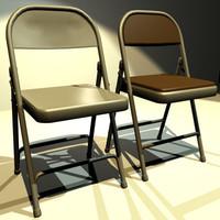 folding chair 02 3d w3d