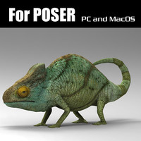 chameleon character poser 3d pz3