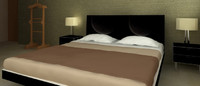 bed night tables 3d max