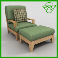 lounge chair with ottoman
