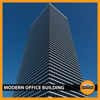 modern office building 01 3d model