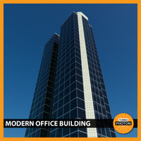 modern office building 04 3d model