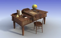 Old teacher desk 3dmodel