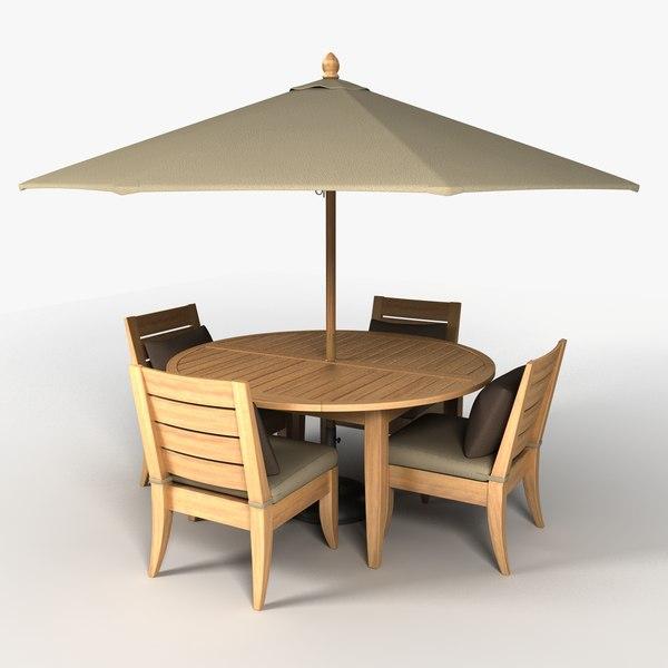 Patio Furniture Set 1 3d Model