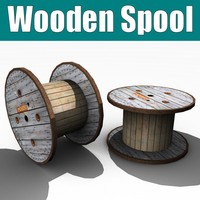 lightwave wooden spool