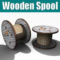 lightwave wooden spool