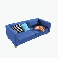 modern blue sofa 3d max