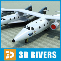 SpaceShipTwo white knight two by 3DRivers