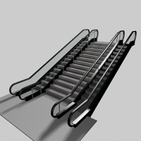 escalator stair 3d model