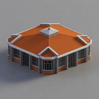 3d model of multi purpose building