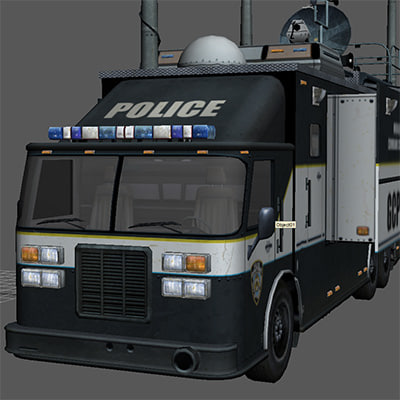 fbi command truck 3d model - FBI command TRUCK... by radoxist