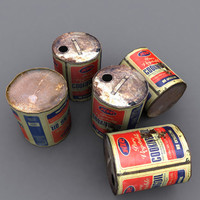 3d model cooking oil corroded