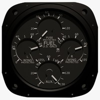 maya fuel gauge aircraft instrument