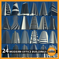 modern office buildings 24 3d model