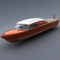 1956 chris craft continental 3d model