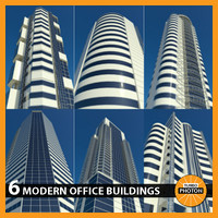 3d model modern office buildings vol 4