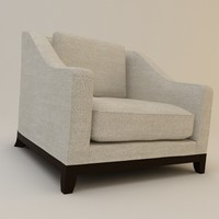 Designer fabric armchair