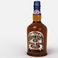 3d chivas whisky bottle