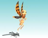 3d toon butterfly model