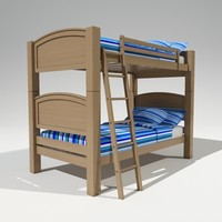 3d model kids bunk bed