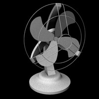 desk fan 3d obj