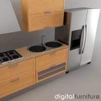 kitchen furniture dxf
