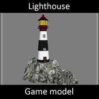 3ds max lighthouse - light