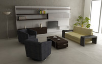 3d model living room set 03