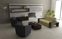 3d model living room set 03