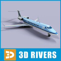 3d model gulfstream g500 jets