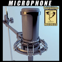 3ds max microphone studio