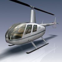 3ds max robinson r44 helicopter