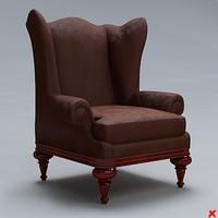 3d chair lounge model