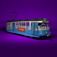 3d model tram gothenburg