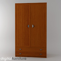 wardrobe digital 3d max