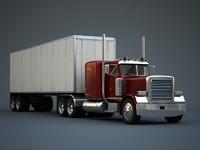 3d model semi truck