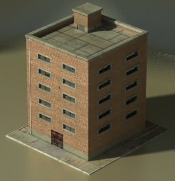 Tiled Industrial Building