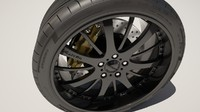 alloy rim tire 3d max