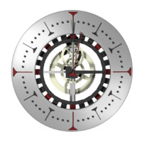 custom clock wall 3d model