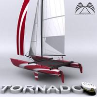 3d model catamaran tornado