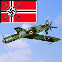 3d ww2 german dornier 335a model