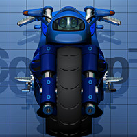 3d motorcycle model