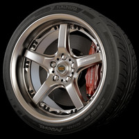 3d volk racing wheel rim tire