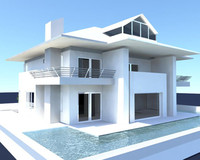 3d ma villa modeled designed