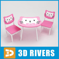 kids table chairs 3ds