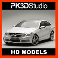 3d mercedes e class coupe model