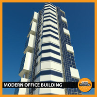 3ds max modern office building 01
