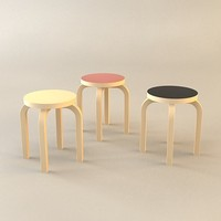 free chair stool 3d model