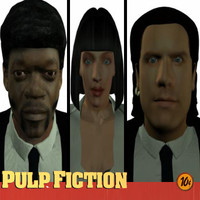 3d model pulp fiction character pack