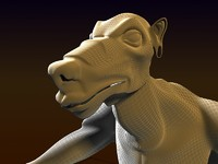 rat human 3d model
